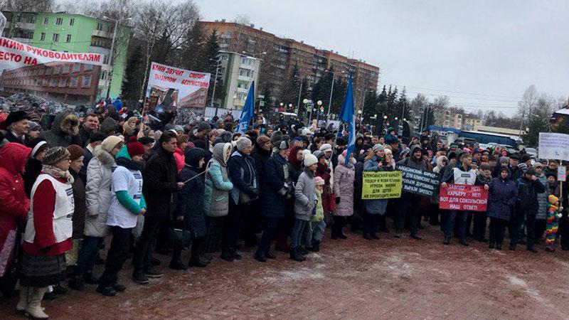 «Бои» против мусорных полигонов продолжаются: в Клину прошел самый массовый митинг против «Алексинского карьера».