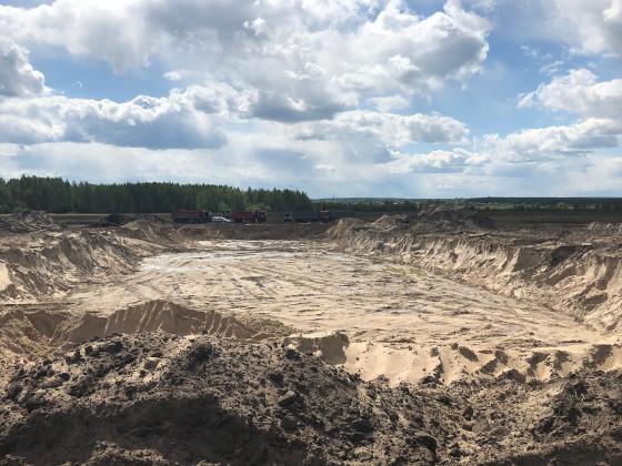 Инспекторы Росприроднадзора выявили факт незаконной добычи песка в Калуге