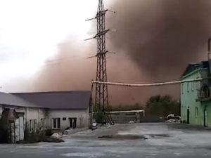 Рыжее облако над Коркино