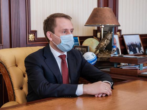 Александр Козлов встретился с Главой Республики Крым Сергеем Аксеновым